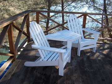 Picture of POLYWOOD® Adirondack Chair Tete-a-Tete Recycled Plastic