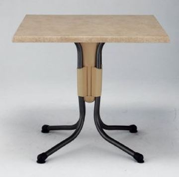Picture of Polo 31 Inch Square Dining Table Werzalit with Aluminum Base