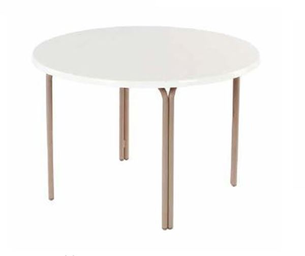 "Picture of ADA Compliant 48"" Round Fiberglass Swimming Pool Dining Table"