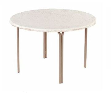 "Picture of ADA Compliant 48"" Round Faux Stone Swimming Pool Dining Table"