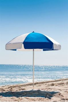 6.5 Foot Diameter Steel Beach Umbrella with Acrylic Canopy