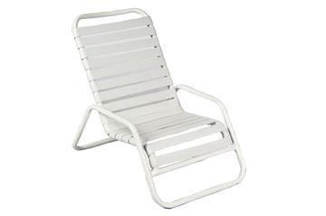 Sand Chair with Vinyl Straps and Stackable Aluminum Frame
