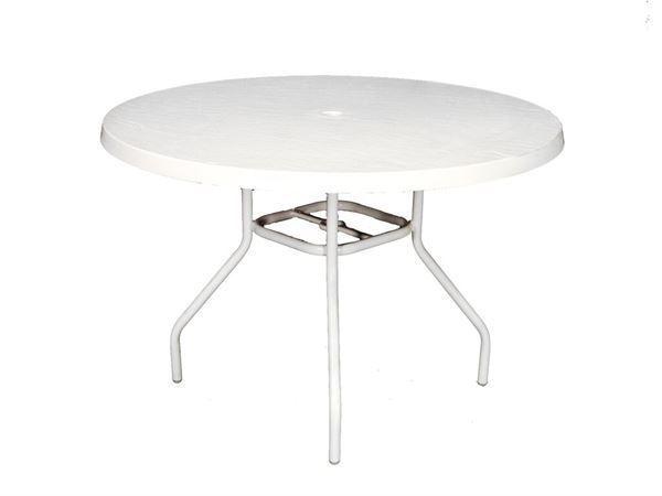"Round 42"" Fiberglass Dining Table"