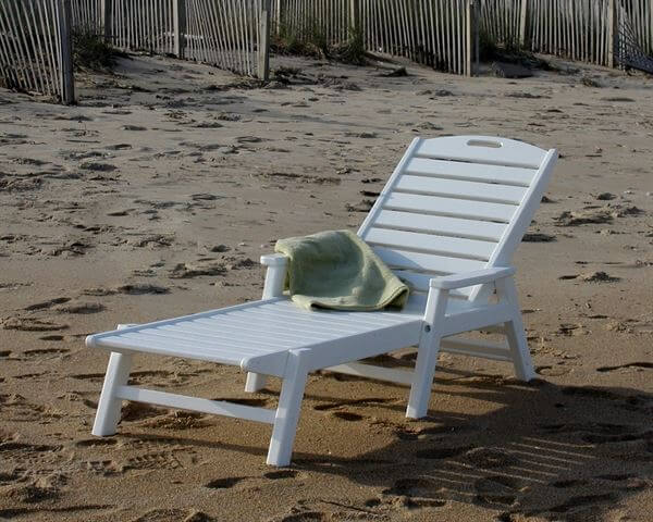 Picture Of Polywood Nautical Recycled Plastic Chaise Lounge Set Includes 4 Lounges With