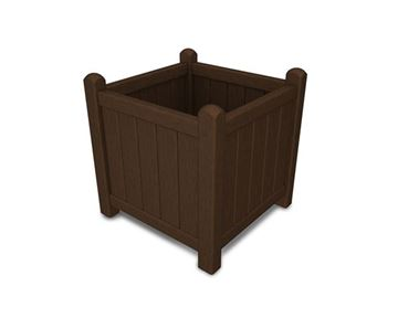 Polywood Traditional 16 Inch Square Garden Planter