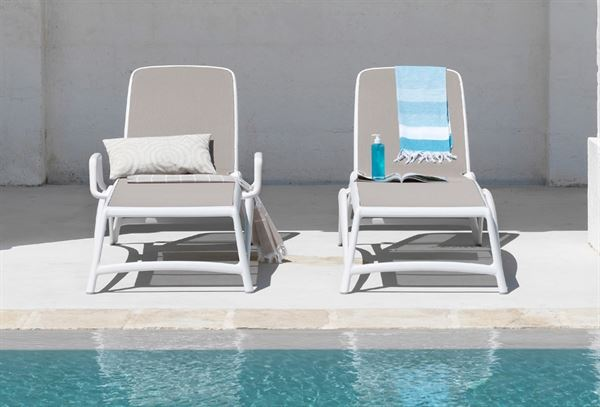 ... Atlantico Sling Plastic Resin Chaise Lounge For Pool Deck And Patios