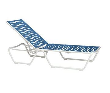 Picture of Tropitone Millennia EZ Span Armless Strap Chaise Lounge, Stackable, 24 lbs.