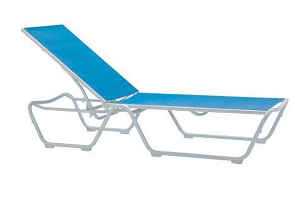 Picture of Tropitone Millennia Relaxed Sling Chaise Lounge for Hotels and Resorts, Stackable, 19 lbs.