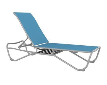 Picture of Tropitone Millennia Relaxed Sling Chaise Lounge with Shelf for Storage, Stackable, 26 lbs.