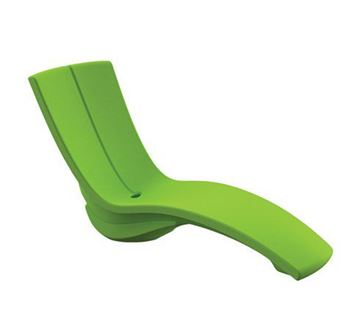 Picture of Tropitone In-Pool Furniture, Curve Chaise Lounge made of Rotoform Polymer, Stackable with Riser, 74 lbs.