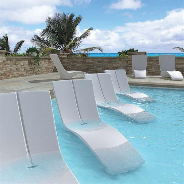 Tropitone In Pool Furniture Curve Chaise Lounge Made Of Rotoform
