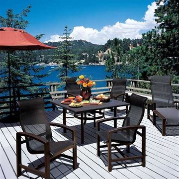 Picture of Tropitone Lakeside Sling Dining Chair with Aluminum Frame, 18 lbs.