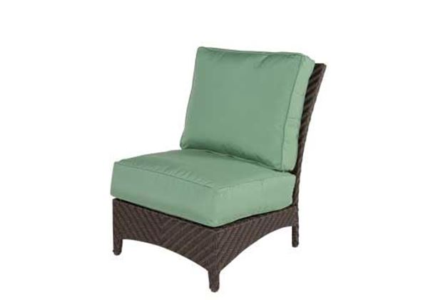 Picture of Sectional Wicker Box & Welt Deep Seat Cushion Armless Lounge Chair, Palmer Woven Collection, 25 lbs.