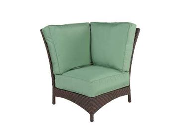 Picture of Sectional Wicker Box & Welt Deep Seat Cushion Corner Lounge Chair, Palmer Woven Collection, 30 lbs.