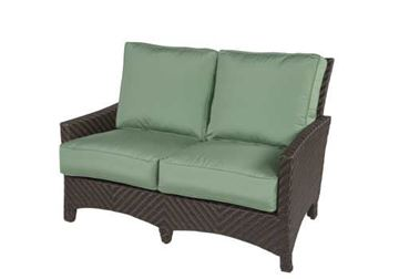 Picture of Wicker Box & Welt Deep Seat Cushion Love Seat, Palmer Woven Collection, 50 lbs.
