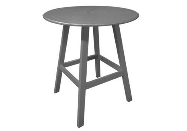 "Kingston Commercial Solid Marine Grade Polymer 36"" Round Bar Height Table"