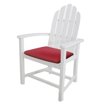 Picture of Polywood Cushions Adirondack Dining Chair Seat Cushion Only