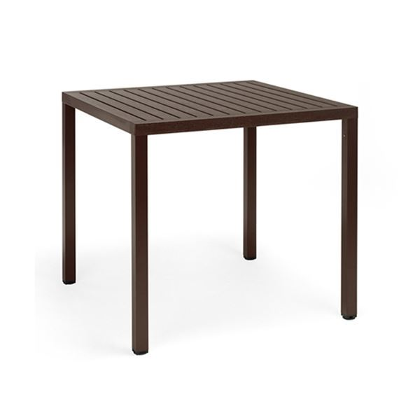 "31"" Square Cube Plastic Resin Dining Table"