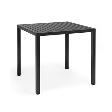 "Picture of 31"" Square Cube Plastic Resin Dining Table by Nardi, 26.6 lbs."