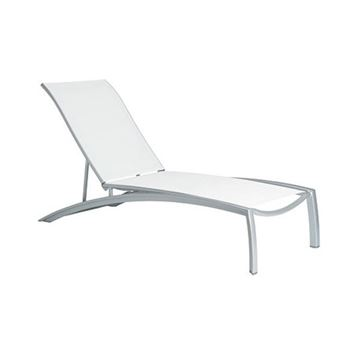 Picture of Tropitone South Beach Relaxed Sling Chaise Lounge for Hotels and Resorts, Stackable, 30.5 lbs.