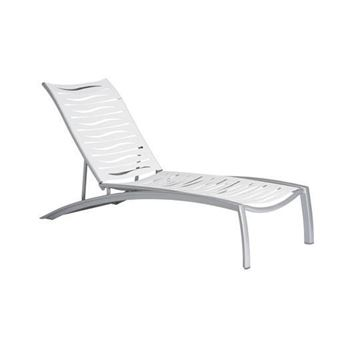 Picture of Tropitone South Beach EZ Span Armless Strap Chaise Lounge, Stackable, 40 lbs.