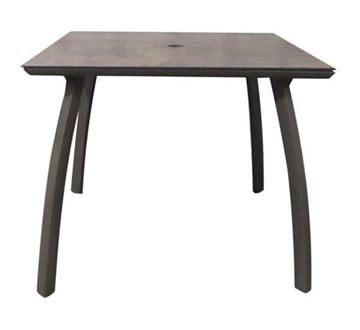 "Picture of Sunset 36"" Square Dining Height Table with Umbrella Hole, 52 lbs."