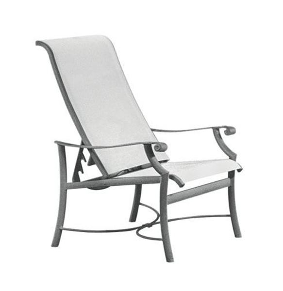 Picture of Tropitone Montreux Sling Recliner Chair, 19 lbs.