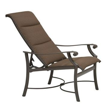 Picture of Tropitone Montreux Padded Sling Recliner Chair, 20 lbs.