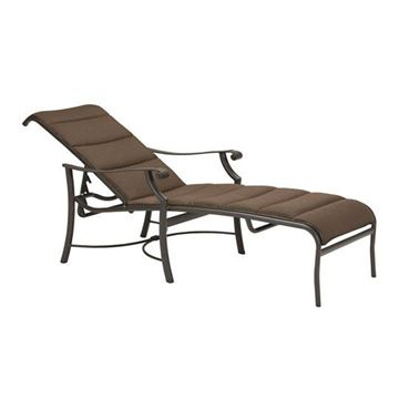 Picture of Tropitone Montreux Padded Sling Chaise Lounge, 27.5 lbs.