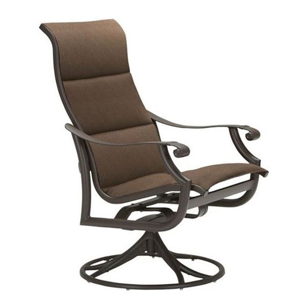 Tropitone Montreux Padded Sling High Back Swivel Rocker
