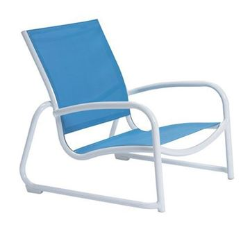 Picture of Tropitone Millennia Relaxed Sling Sand Chair with Stackable Aluminum Sled Base, 8 lbs.
