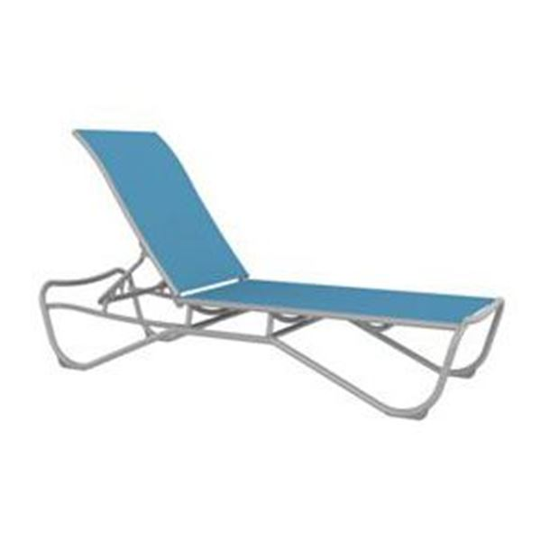 Picture of Tropitone Millennia Relaxed Sling Armless Chaise Lounge Stackable Aluminum Frame, 23.5 lbs.