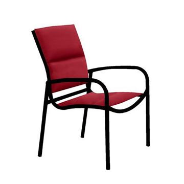 Picture of Tropitone Millennia Padded Sling Dining Chair with Stackable Aluminum Frame,  12 lbs.