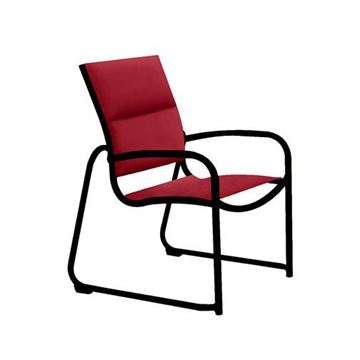 Picture of Tropitone Millennia Padded Sling Dining Chair with Stackable Aluminum Sled Base, 13 lbs.