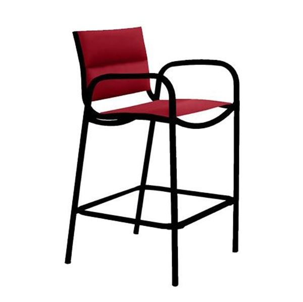 Picture of Tropitone Millennia Padded Sling Bar Stool with Aluminum Frame, 18 lbs.