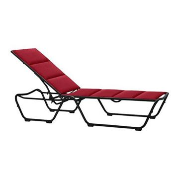 Picture of Tropitone Millennia Padded Sling Chaise Lounge for Hotels and Resorts, Stackable, 25 lbs.