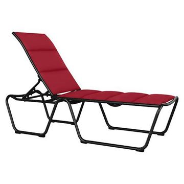 Picture of Tropitone Millennia Padded Sling Armless Chaise Lounge, ADA Compliant, Stackable, 25 lbs.