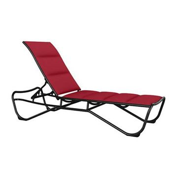 Picture of Tropitone Millennia Padded Sling Armless Chaise Lounge Stackable Aluminum Frame, 26.5 lbs.