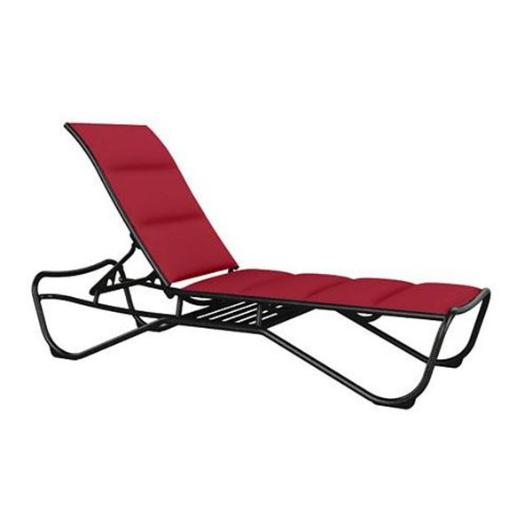 Picture of Tropitone Millennia Padded Sling Chaise Lounge with Shelf for Storage, Stackable, 29 lbs.