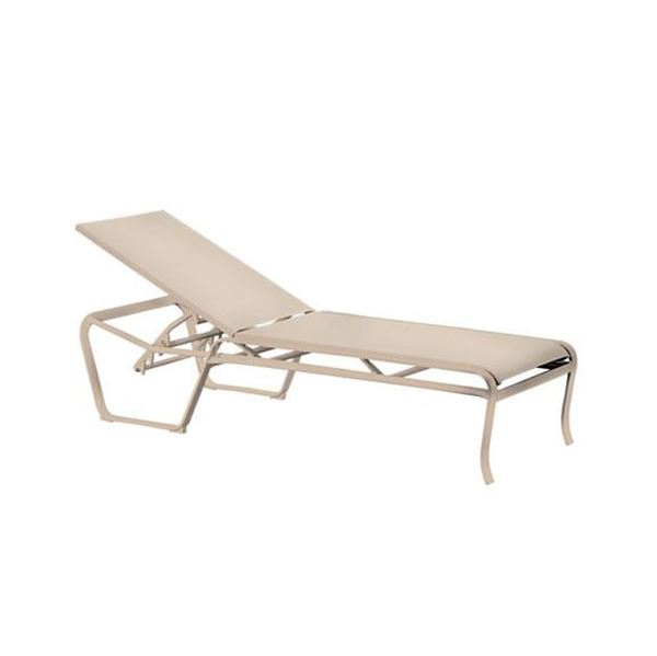 Picture of Tropitone Spinnaker Armless Sling Chaise Lounge, Stackable, 27 lbs.