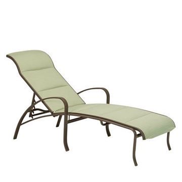 Picture of Tropitone Spinnaker Padded Sling Chaise Lounge, Stackable, 24.5 lbs.