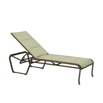 Picture of Tropitone Spinnaker Armless Padded Sling Chaise Lounge, Stackable, 27 lbs.