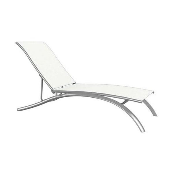 Picture of Tropitone South Beach Relaxed Sling Elite Armless Chaise Lounge, Stackable, 26 lbs.
