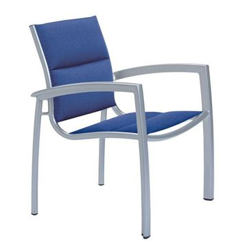 Picture of Tropitone South Beach Padded Sling Dining Chair, Stackable, 13.5 lbs.