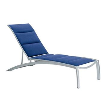 Picture of Tropitone South Beach Padded Sling Chaise Lounge for Hotels and Resorts, Stackable, 35 lbs.