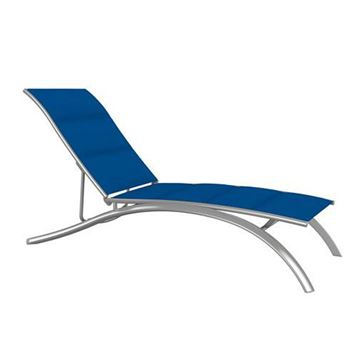 Picture of Tropitone South Beach Padded Sling Elite Armless Chaise Lounge, Stackable, 30 lbs.