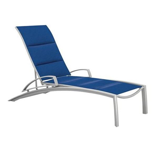 Tropitone South Beach Padded Sling Arm Chaise Lounge