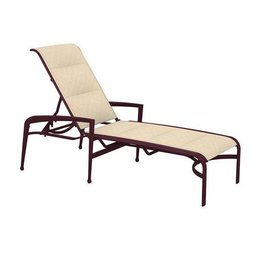 Tropitone Veer Padded Sling Chaise Lounge Stackable