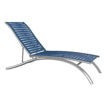 Picture of Tropitone South Beach EZ Span Vinyl Strap Elite Armless Chaise Lounge, Stackable, 30 lbs.