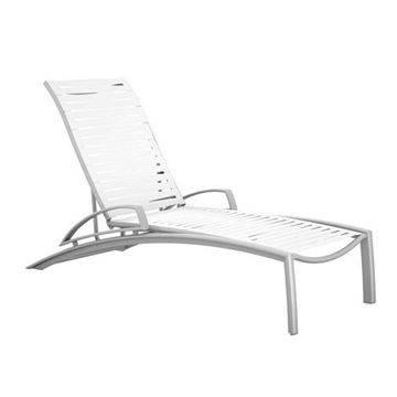 Tropitone South Beach EZ Span Vinyl Strap Elite Arm Chaise Lounge